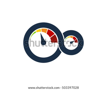 Infinity automotive car logo design template stock vector royalty