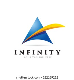 Infinity, beautiful abstract logo