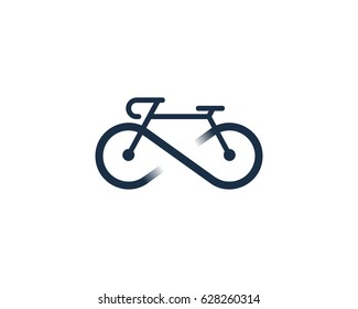 Infinity Bike Icon Logo Design Element