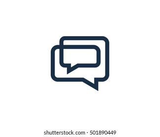 Infinity Chat Logo Design Template