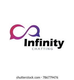 Infinity chat media logo app icon