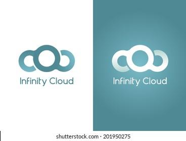 Infinity Cloud. A Cloud in an infinity shape.