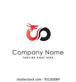 infinity dragon logo template