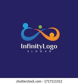 Infinity family care logo  vector
