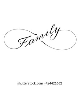 Infinity family icon valentines day vector tattoo symbol