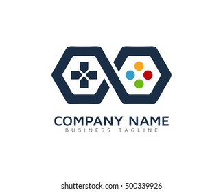Logo game images stock photos vectors shutterstock infinity game logo template altavistaventures Images
