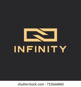 infinity icon design logo template