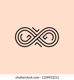 Infinity icon. Line design. Vector illustration