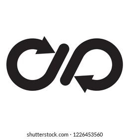 infinity icon in trendy flat design