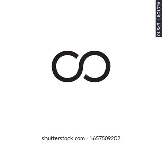 infinity icon vector design element logo template