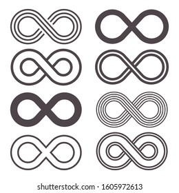 Infinity icon vector design illustration isolated on white background
