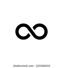 Infinity icon vector on white background editable