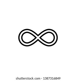 Infinity icon vector. Infinity sign in logo symbol. Trendy flat design style.