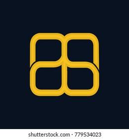 Infinity Initial Number 88 Design Logo