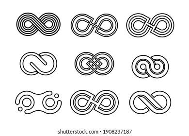 infinity line logo variation vector design