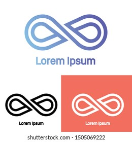 Infinity Logo Concept. Icon-based logo isolated on white background. Infinity logo symbol modern, simple, vector, icon for website design, mobile app, ui. Vector Illustration
