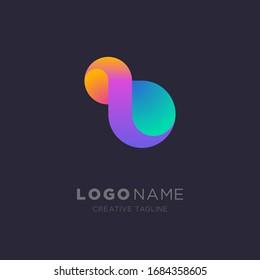 Infinity logo. Creative colorful infinity logo