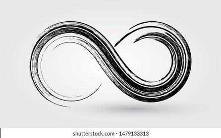 Infinity logo design.Grunge infinity symbol.