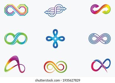 Infinity Logo Icon Vector Design Template