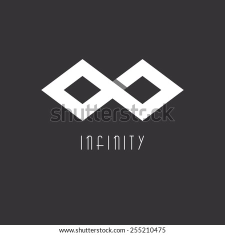 Infinity Logo Mockup Two Squares Linked Stock Vector Royalty Free