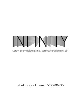 Infinity logo template. Vector logotype isolated on white background. Vector illustration with illusion of depth.
