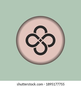 Infinity loop icon, isolated Infinity loop sign icon, vector illustration