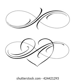 Infinity love icon vector valentines day symbol