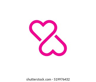 Infinity Love Logo Design Template