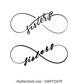 Infinity love sisters vector symbol