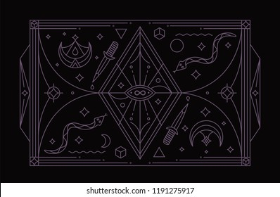 Infinity Magic Symbol. Mystic Symbol. Vector Illustration.