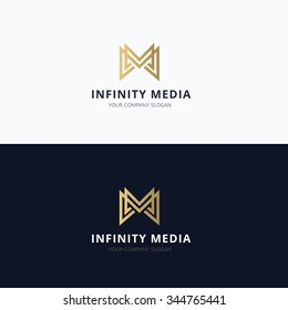 Infinity media, M letter Vector Logo Template