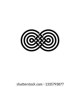 infinity mobius logo vector icon