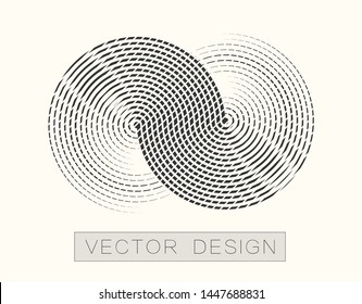 Infinity modern badge. Vector design element for banner, poster, logo, web icon. The object on an isolated light background.