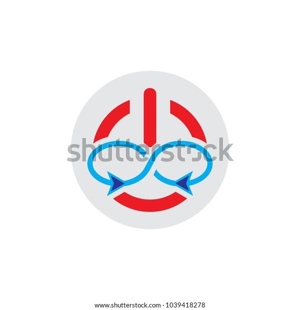 Infinity Power Logo Icon Design