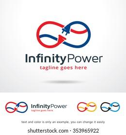 Infinity Power Logo Template Design Vector