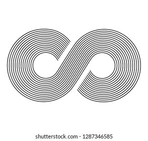 Infinity sign. Infinity flat icon. Mobius strip. Vector logo for web design, mobile and infographics. Vector illustration eps 10. Isolated on white background.