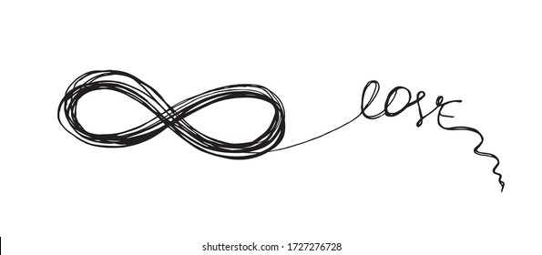 Infinity sign hand drawn illustration