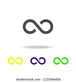 Infinity sign multicolor icon. Element of web icons.  Signs and symbols icon for websites, web design, mobile app on white background with shadow