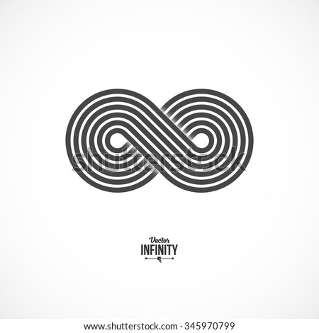 Infinity Symbol Icon Logo Template Vector Stock Vector Royalty Free