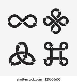 Infinity symbol icons. Vector Illustration.