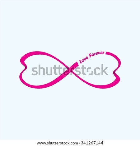 Infinity Symbol Love Forever Stock Vector Royalty Free 341267144