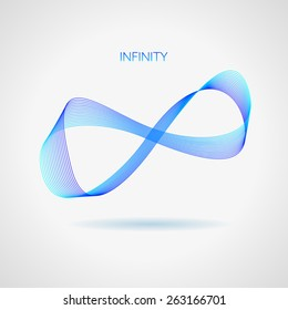 Infinity Symbol on a white background