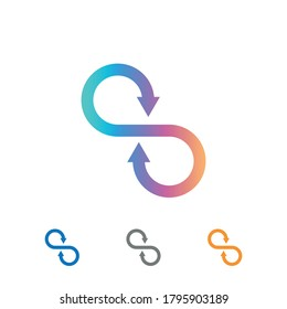 infinity symbol or sign, infinity icon. Vector icon of infinity. Stock illustration.