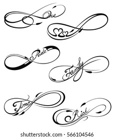 Infinity Tattoo Designs Images Stock Photos Vectors