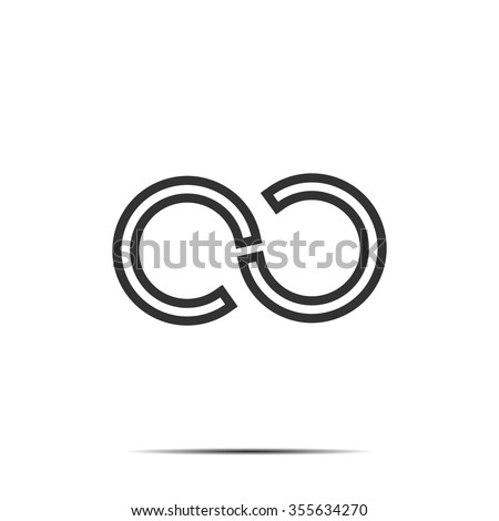 Infinity Symbols Logo Concept Letter C Stock Vector Royalty Free