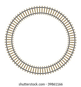 Infinity vector circle train railway track