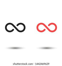 infinity vector eps 10 icon , Lorem ipsum flat design