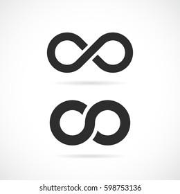 Infinity vector eps symbol illustration isolated on white background