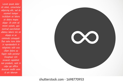 Infinity vector icon eps symbol illustration isolated on white background Outline Infinity vector icon illustration isolated vector sign symbol Infinity vector icon. Infinity icon sign in