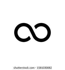 Infinity vector icons can be used for graphic and web design